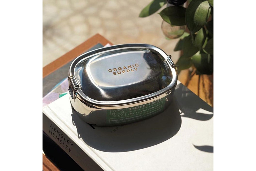 กล่องข้าว ORGANIC SUPPLY stainless lunch box