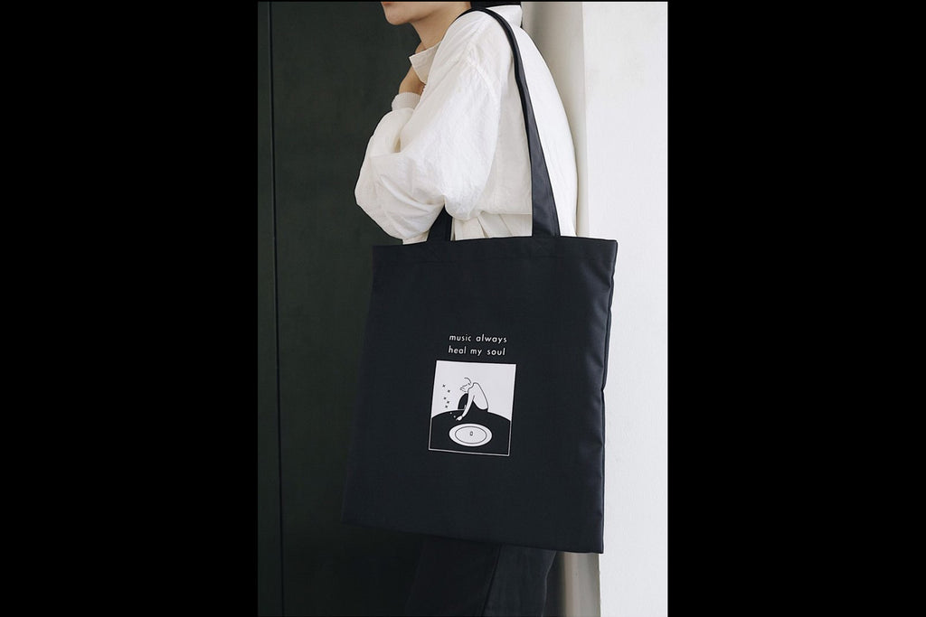 Tote bag - music always heal my soul
