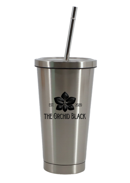 15oz Personalized Stainless-Steel Tumbler with Lid and Straw