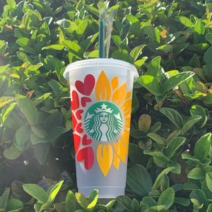 Flower & Hearts Reusable Starbucks Venti Cold Cup