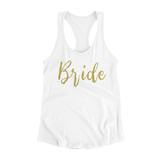 Bride Tank Top- Gold Glitter