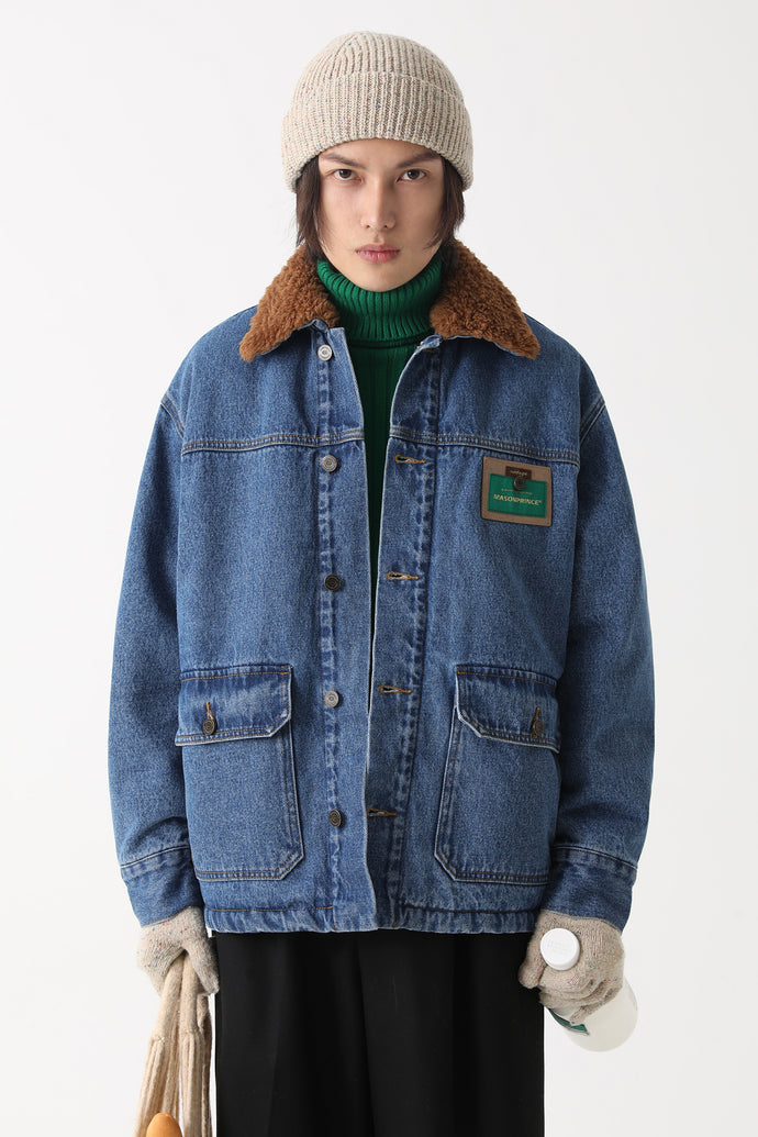 Vintage patch - collared denim jackets