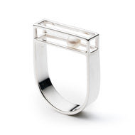 Caged Horizontal Ring