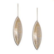 Optical Navette Unique Drop Earring