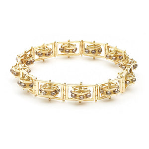 Ferris Wheel Champagne Diamond Bracelet