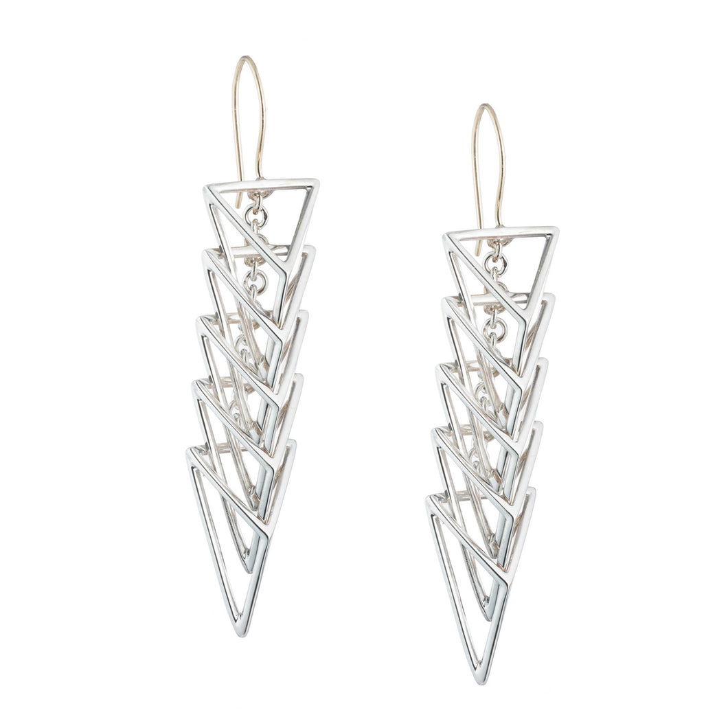 Chain Slinky Long Triangle Earring