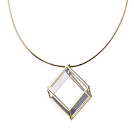 Parallelepiped Quartz Pendant Necklace