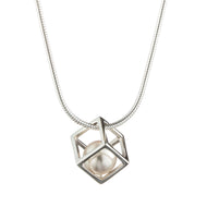 Cage Cubed Pendant Necklace