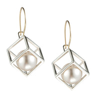 Cage Cubed Large Earring