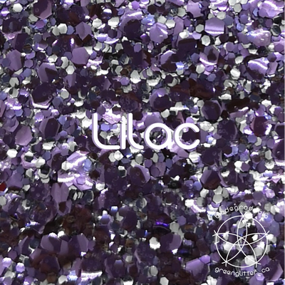 Biodegradable Body Green Glitter - Lilac | Lavender & Silver Chunky Body & Craft Sparkles