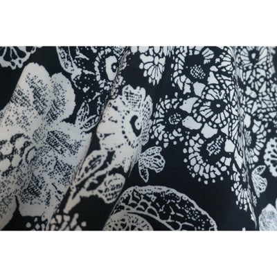 Summer Festival Hoodie - Black & White Floral