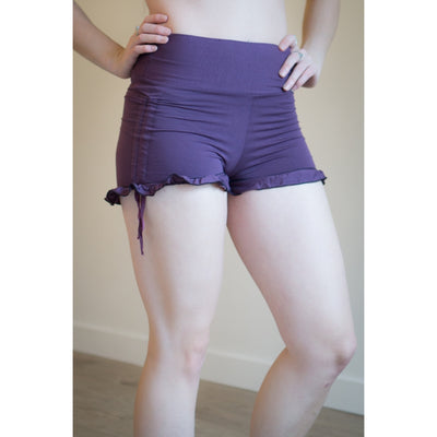 Shorts - Bamboo High Yoga Waistband w Drawstring