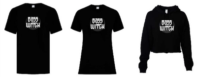 Bass Witch Merch PRE ORDER - T-Shirts, Cropped Hoodies, and Tank Tops