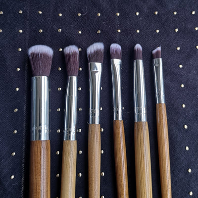 6 Piece Bamboo Brush Set