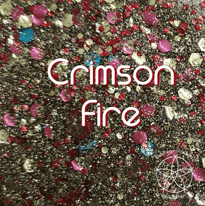 Biodegradable Body Glitter - Crimson Fire | Gold Copper Cosmetic & Craft Glitter