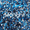 Biodegradable Body Green Glitter - Midnight | Blue, Silver & Black Chunky Glitter
