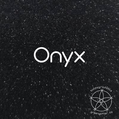 Biodegradable Fine Green Glitter - Onyx | Black Cosmetic & Craft Glitter