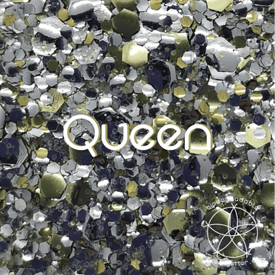 Biodegradable Body Glitter - Queen | Silver and Gold Chunky Cosmetic & Craft Glitter