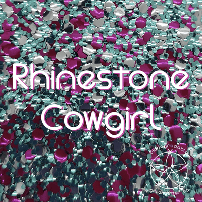 Biodegradable Body Glitter - Rhinestone Cowgirl | Blue Silver & Pink Cosmetic & Craft Glitter