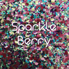 Biodegradable Body Green Glitter - Sparkle Berry | Rainbow Confetti Chunky Glitter