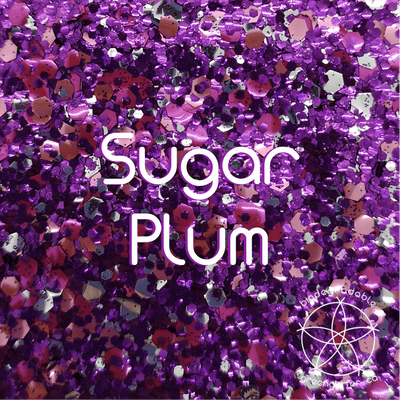 Biodegradable Body Green Glitter - Sugar Plum | Purple & Pink Chunky Body & Craft Sparkles