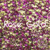 Biodegradable Body Glitter - Rose Gold | Rose Pink Gold Chunky Cosmetic & Craft Glitter