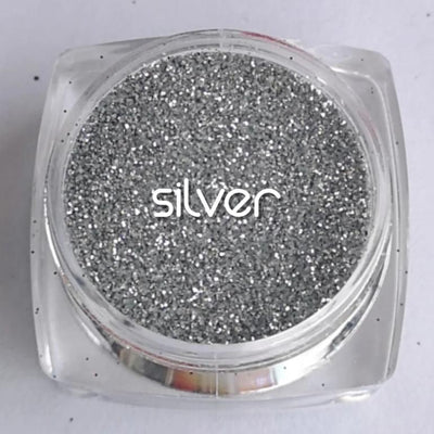Biodegradable Fine Green Glitter - Silver | Metallic Cosmetic Glitter