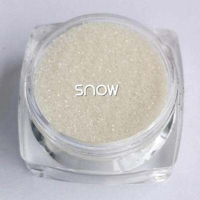 Biodegradable Fine Green Glitter - Snow | Clear Cosmetic Glitter