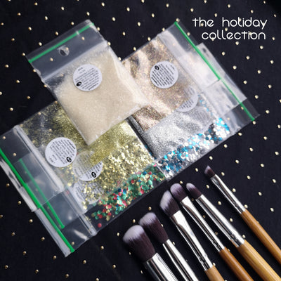 $25 Biodegradable Holiday Jar, Bag + Brush set : Pick Your Color