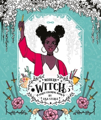 Modern Witch Tarot Coloring Book by Sterle, Lisa