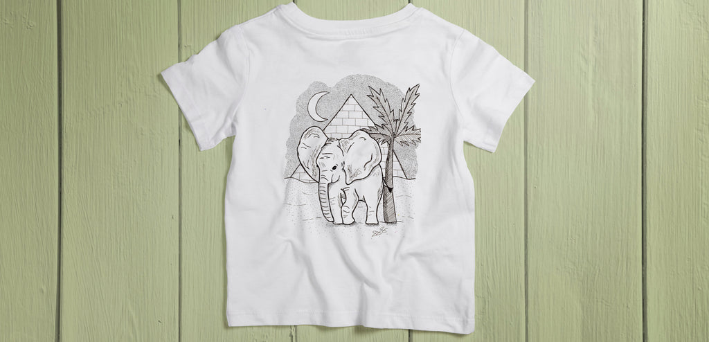 Kids African Elephant T-Shirt