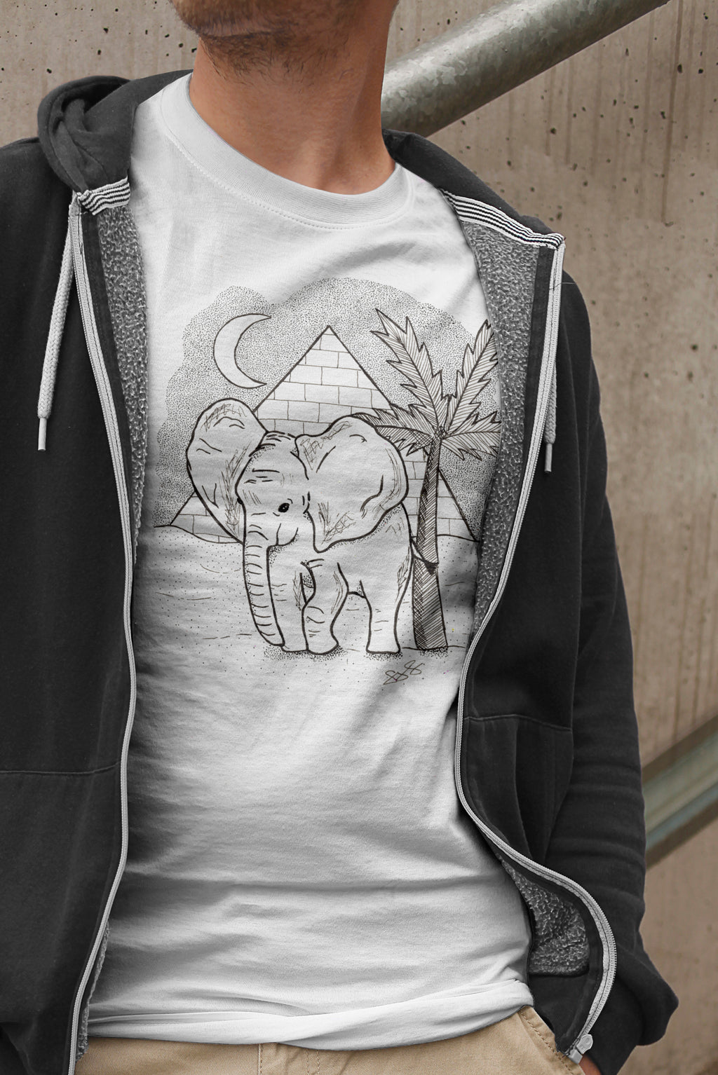 Mens African Elephant T-Shirt