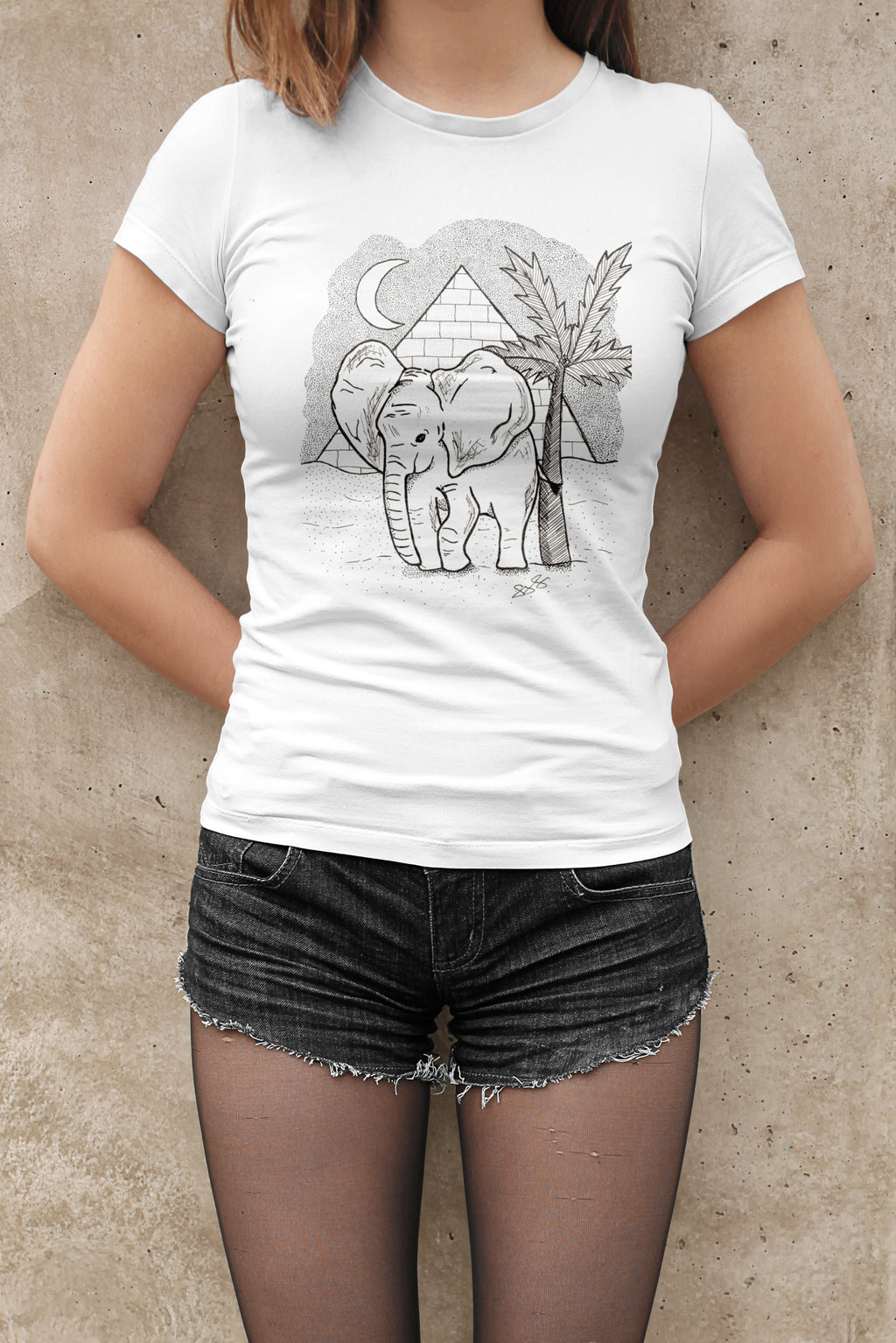 Womens African Elephant T-Shirt