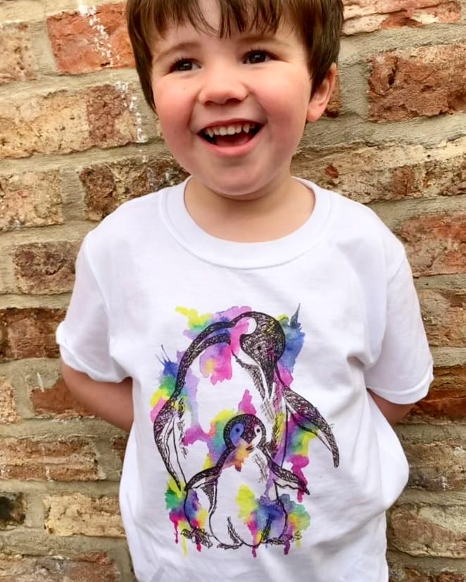 Kids Rainbow Penguin T-Shirt