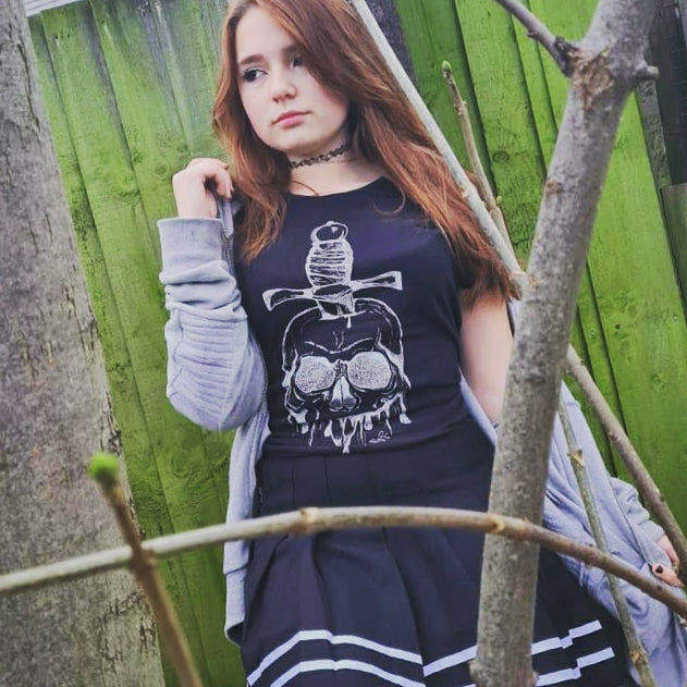 Womens Skull and Dagger T-Shirt