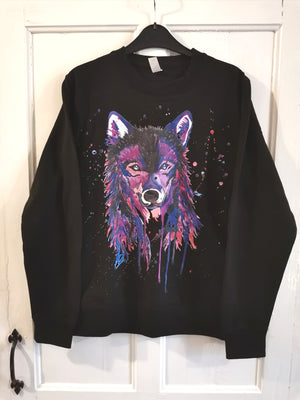 ON SALE Purple Wolf Sweater