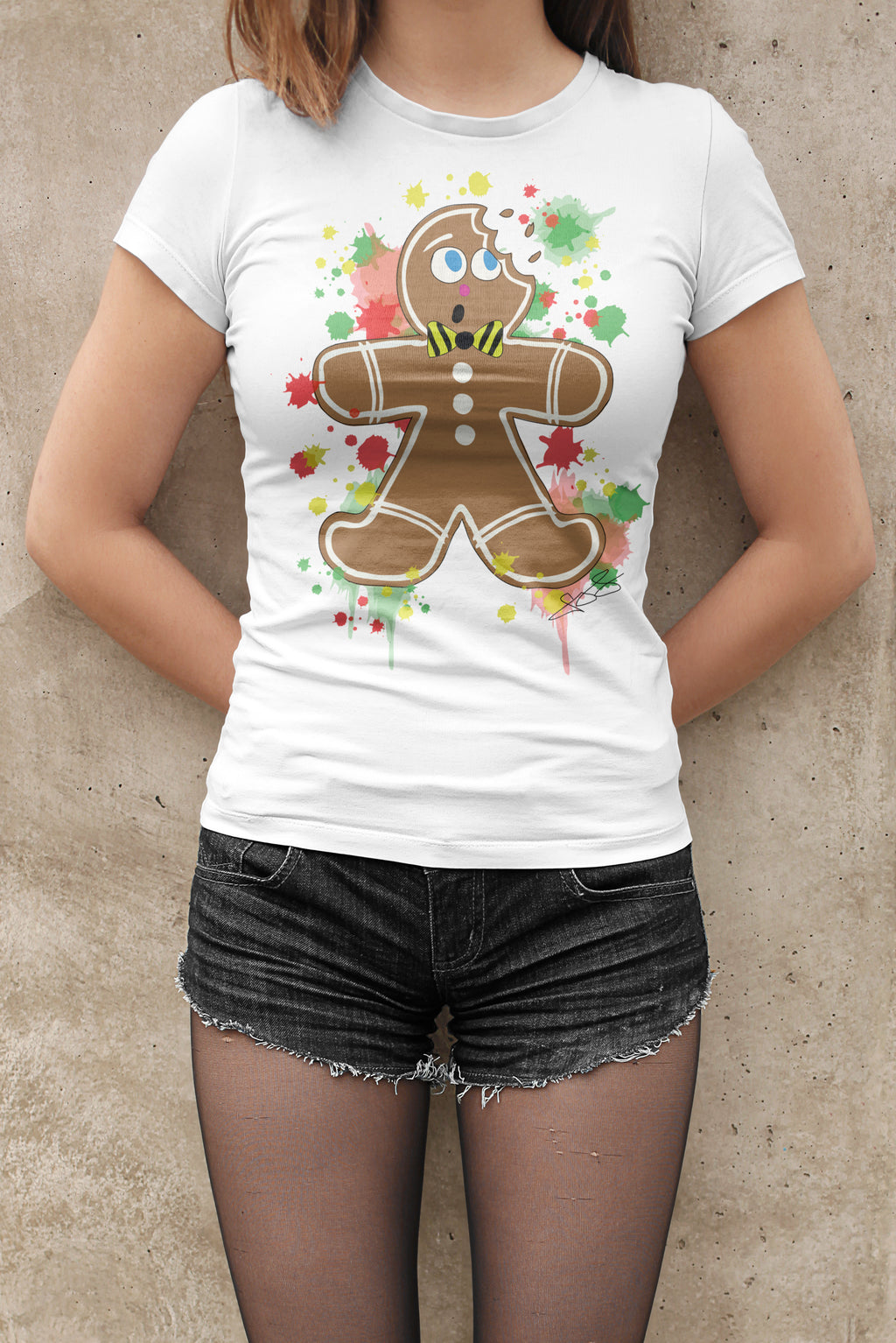 Womens Gingerbread Man T-Shirt