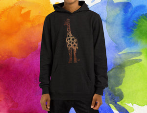 Steampunk Giraffe Hoodie, Robot Bird Clockwork Animal Hoody