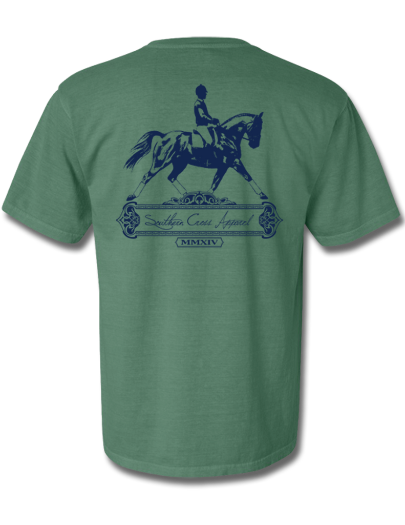 Dressage Seafoam Short Sleeve Small, T-Shirts - Southern Cross Apparel