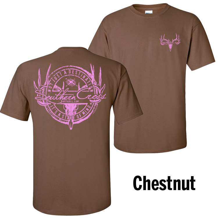 Hunting Stamp Chestnut Short Sleeve 2XL, T-Shirts - Southern Cross Apparel