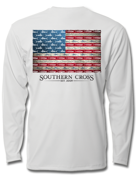 American Flag & Release Youth Performance Long Sleeve