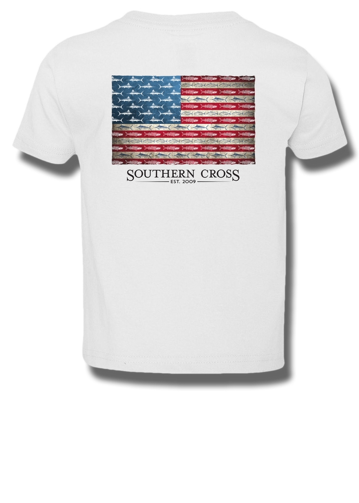 American Flag & Release Kids Short Sleeve, T-Shirts - Southern Cross Apparel