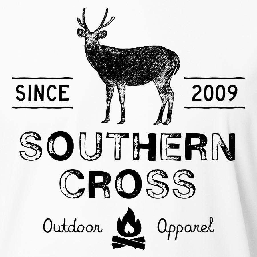 Campfire Deer Tales Womens Performance, Womens LS Performance - Southern Cross Apparel