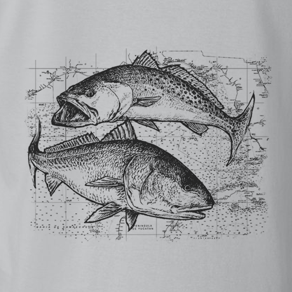 Speckled Trout and Redfish Kids Short Sleeve