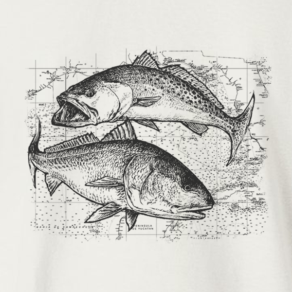 Speckled Trout and Redfish Kids Long Sleeve