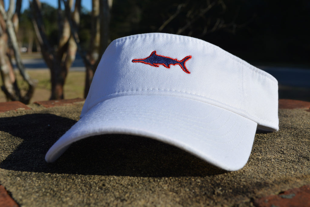 Marlin Garment Washed Twill Visor, Visor - Southern Cross Apparel