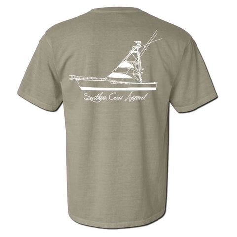 57 Sportfisher Short Sleeve Sandstone Small, T-Shirts - Southern Cross Apparel
