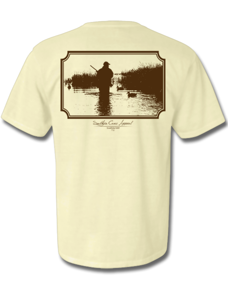 Wading Duck Hunter Short Sleeve Oyster Small, T-Shirts - Southern Cross Apparel