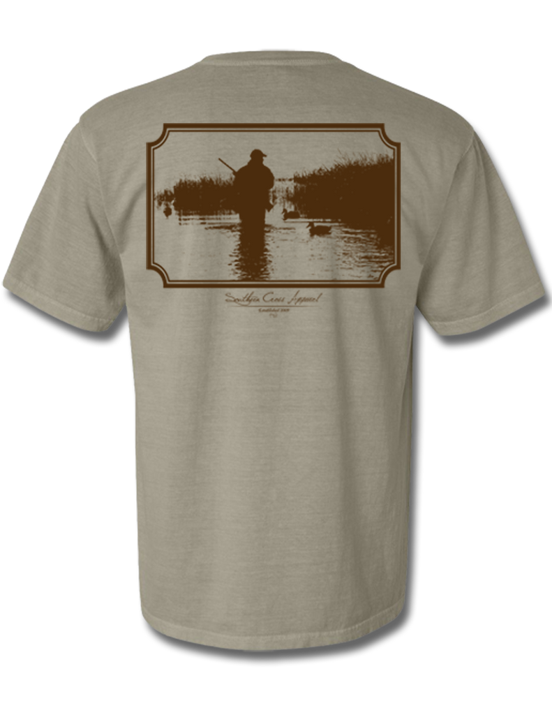 Wading Duck Hunter Short Sleeve Khaki Small, T-Shirts - Southern Cross Apparel