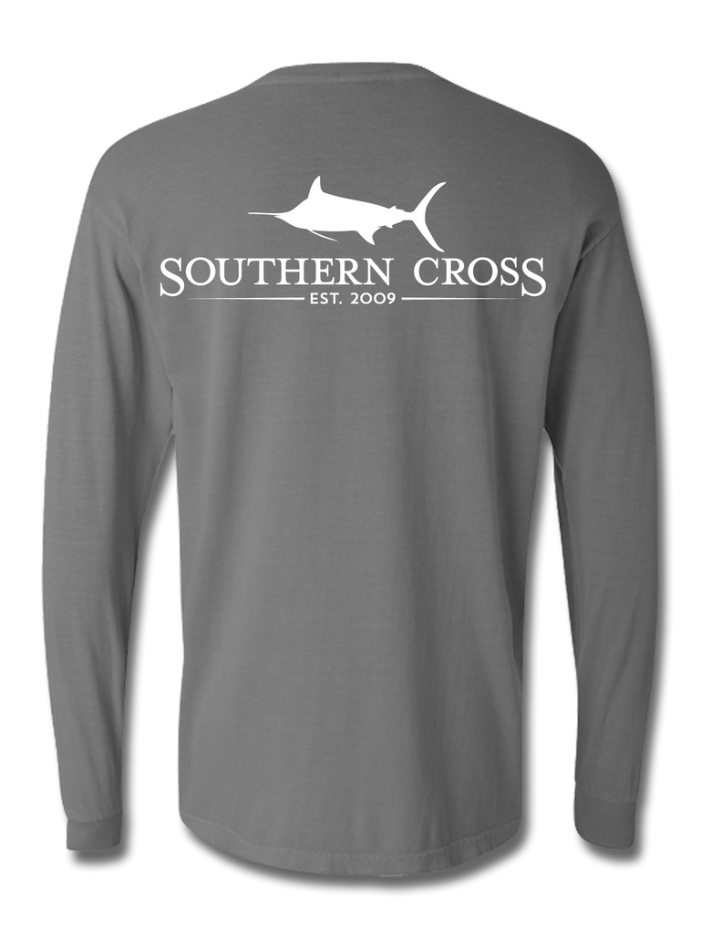 SCA Logo Grey Long Sleeve 3XL, T-Shirts - Southern Cross Apparel